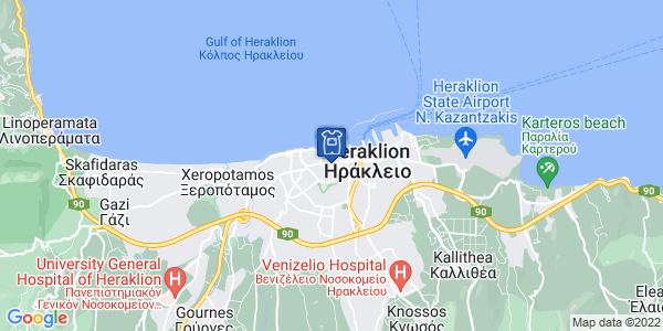 Google Map of Κόσμων 25, Ηράκλειο 712 01, Ελλάδα