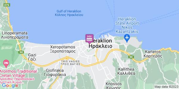 Google Map of Κατεχάκη 33, Ηράκλειο 712 01, Ελλάδα