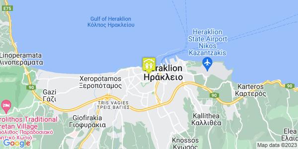 Google Map of Κοζύρη 3, Ηράκλειο 712 01, Ελλάδα
