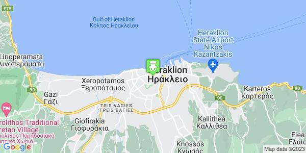 Google Map of Σμύρνης 13, Ηράκλειο 712 01, Ελλάδα