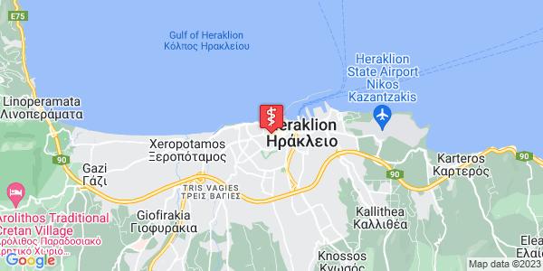 Google Map of 1821 41, Ηράκλειο 712 01, Ελλάδα