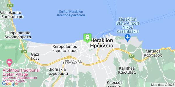 Google Map of Νικ. Πλαστήρα, Ηράκλειο 712 02, Ελλάδα