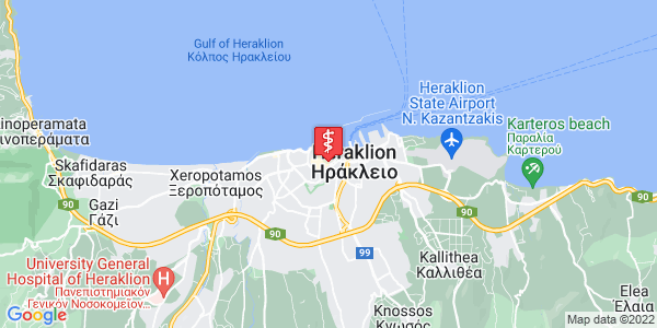 Google Map of Pl. Eleftherias, Iraklio, Greece
