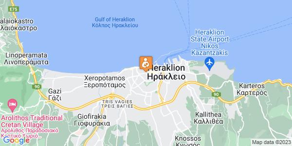 Google Map of Αγίου Μήνα 9, Ηράκλειο 712 01, Ελλάδα