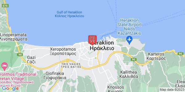 Google Map of Evans 16, Iraklio 712 01, Greece