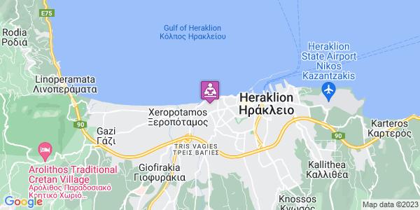 Google Map of Amazonon, Iraklio 713 03, Greece