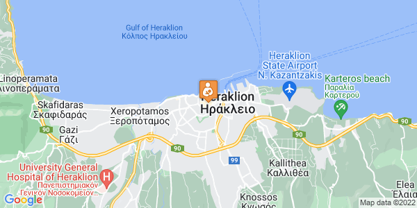Google Map of Δικαιοσύνης 51, Ηράκλειο 712 01, Ελλάδα