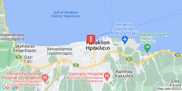 Google Map of Πλ. Ελευθερίας 45, Ηράκλειο 712 02, Ελλάδα