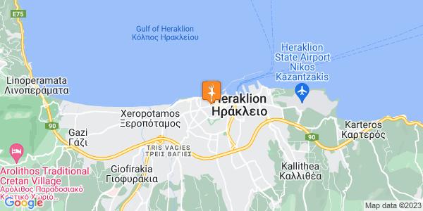 Google Map of Αρχοντοπουλών, Ηράκλειο 712 01, Ελλάδα