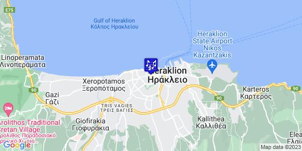 Google Map of 4, 1821 Street Heraklion 71201, Iraklio 712 01, Ελλάδα