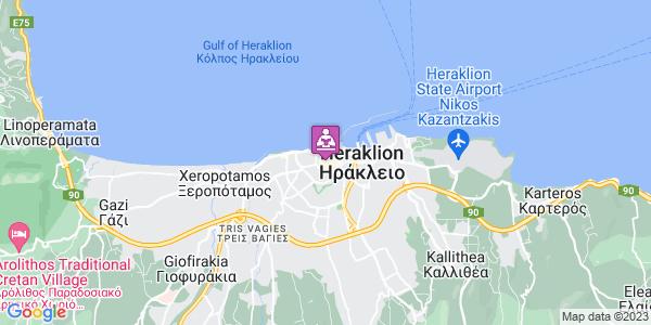 Google Map of 1821 10, Ηράκλειο 712 01, Ελλάδα