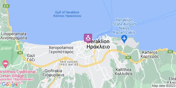 Google Map of Καγιαμπή 3, Ηράκλειο 712 01, Ελλάδα