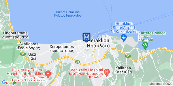 Google Map of Λεωφ. Καλοκαιρινού 80, Ηράκλειο 712 01, Ελλάδα