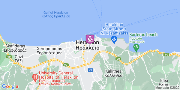 Google Map of Leof. Ikarou 41, Iraklio 713 07, Greece