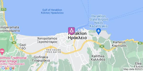 Google Map of Κοραή 21, Ηράκλειο 712 02, Ελλάδα