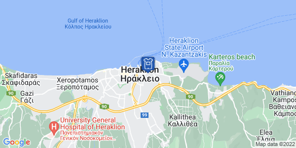 Google Map of Κατεχάκη 14, Heraklion, Crete, Greece