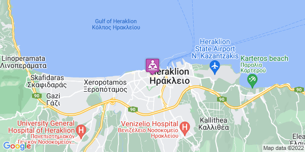 Google Map of Αργυράκη 3, Ηράκλειο 712 01, Ελλάδα