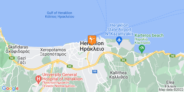 Google Map of Heraklion, Greece
