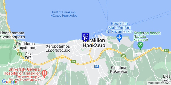 Google Map of Δαιδάλου 10, Heraklion, Crete Region, Greece