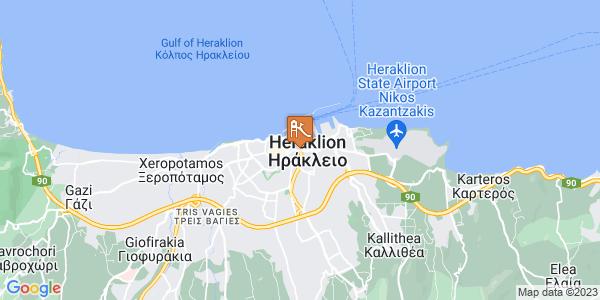 Google Map of Λεωφ. Ικάρου 11, Ηράκλειο 713 06, Ελλάδα