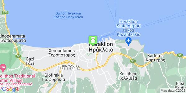 Google Map of Κοραή 14, Ηράκλειο 712 02, Ελλάδα