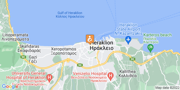 Google Map of Μουρέλου 5, Ηράκλειο 712 02, Ελλάδα