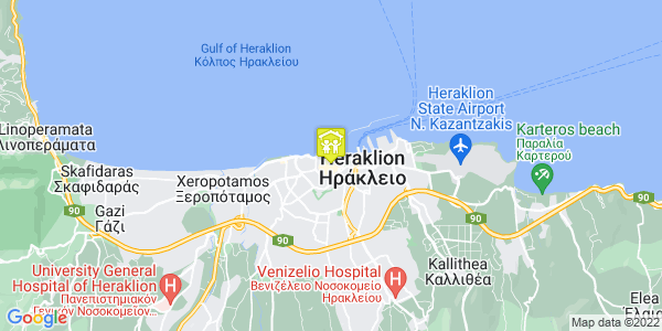 Google Map of Περδικάρη 6, Ηράκλειο, Ελλάδα