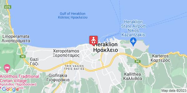 Google Map of Μιχελιδάκη 18, Ηράκλειο 712 02, Ελλάδα