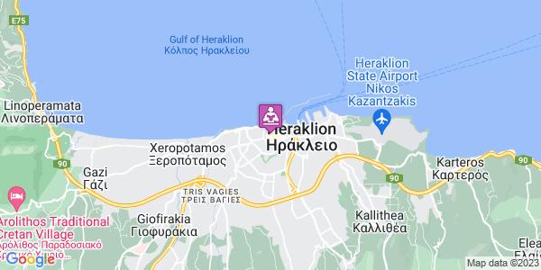 Google Map of Ταγματάρχου Τζουλάκη, Ηράκλειο 712 02, Ελλάδα