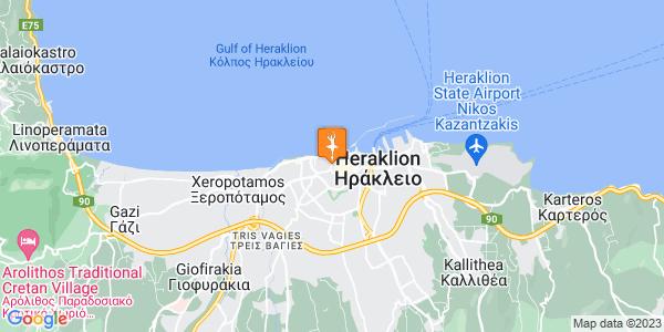 Google Map of Καζαντζάκη 17, Heraklion, Crete Region, Greece