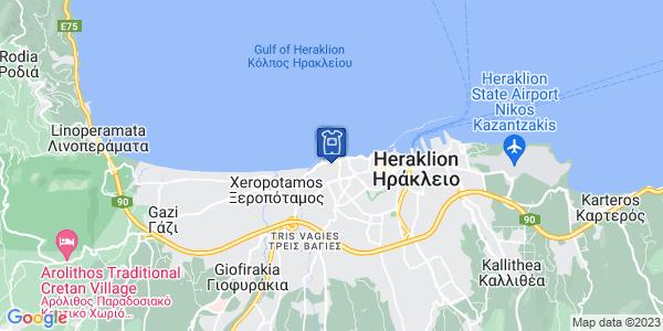 Google Map of Μάχης Κρήτης, Ηράκλειο, Ελλάδα