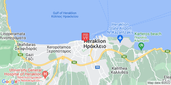 Google Map of Πάροδος Μινώταυρου 14, Heraklion, Crete Region, Greece