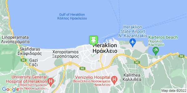 Google Map of Χάνδακος 37, Ηράκλειο 712 02, Ελλάδα