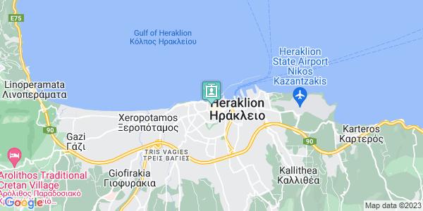 Google Map of Χάνδακος 24, Ηράκλειο 712 02, Ελλάδα