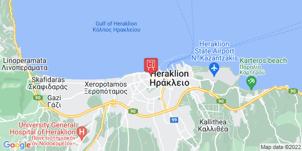 Google Map of Χάνδακος 41, Ηράκλειο 712 02, Ελλάδα