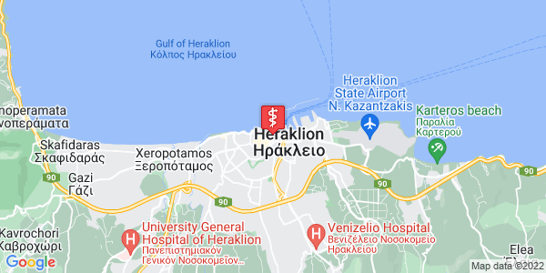 Google Map of Μαλικούτη 2, Ηράκλειο 712 02, Ελλάδα