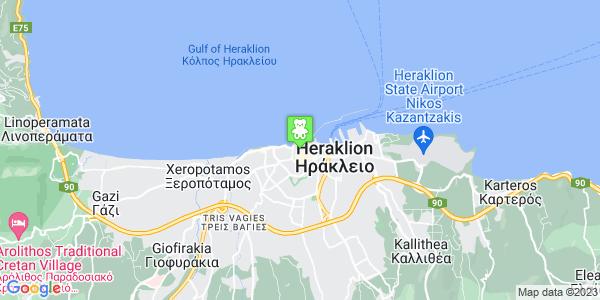 Google Map of Κυδωνίας 14, Ηράκλειο 712 02, Ελλάδα