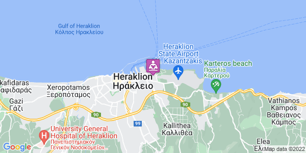 Google Map of Irodotou, Nea Alikarnassos 716 01, Greece