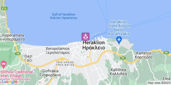 Google Map of 25ης Αυγούστου 48, Ηράκλειο 712 02, Ελλάδα