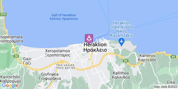 Google Map of Σαπφούς 2, Ηράκλειο 712 02, Ελλάδα