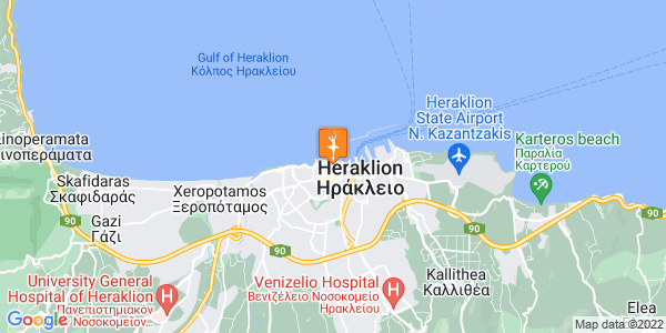 Google Map of Επιμενίδου 22, Ηράκλειο 712 02, Ελλάδα