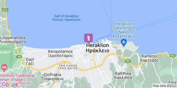 Google Map of Monis Agkarathou 9, Iraklio 712 02, Greece