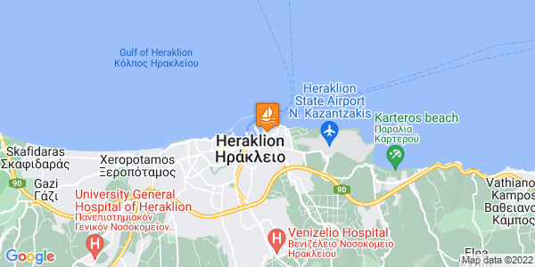 Google Map of Λιμανι Ηρακλειο, Λεωφ. Νεάρχου 78, Ηράκλειο 713 07, Ελλάδα