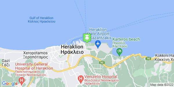 Google Map of Μικράς Ασίας, Ηράκλειο 716 01, Ελλάδα