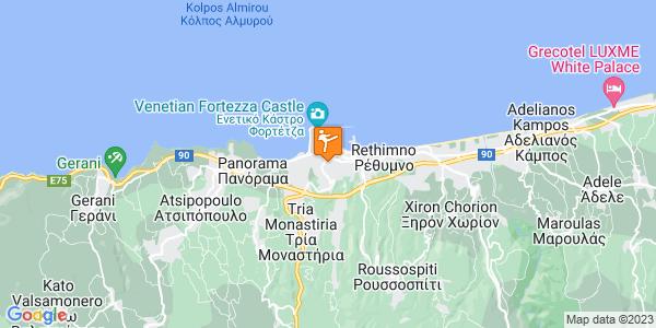 Google Map of Χατζημιχάλη Γιάνναρη 23, Ρέθυμνο, Ελλάδα