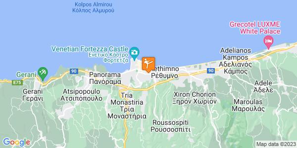 Google Map of Κυρίλλου Λουκάρεως 9, Rethimnon, 741 00, Rethymno, Greece