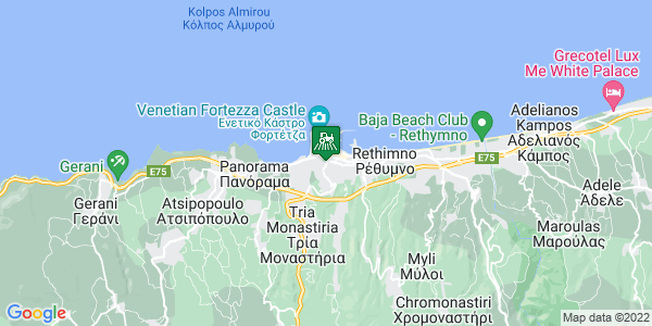 Google Map of Δημητρακάκη 13, Ρέθυμνο 741 00, Ελλάδα