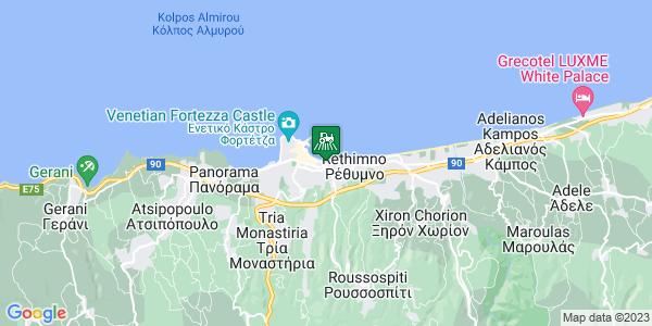 Google Map of Παπανδρέου Γεώργιος 12, Ρέθυμνο 741 00, Ελλάδα