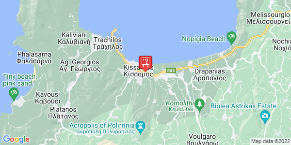 Google Map of Ηρ. Πολυτεχνείου 65, Κίσσαμος 734 00, Ελλάδα