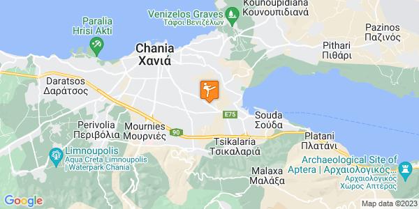 Google Map of Λεωφ. Σούδας 131, Χανιά 731 34, Ελλάδα